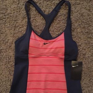 Nike swimsuit top size small NWT gray